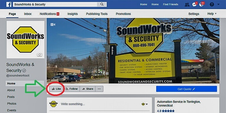 SoundWorksCT 500 Facebook Page Likes 2018