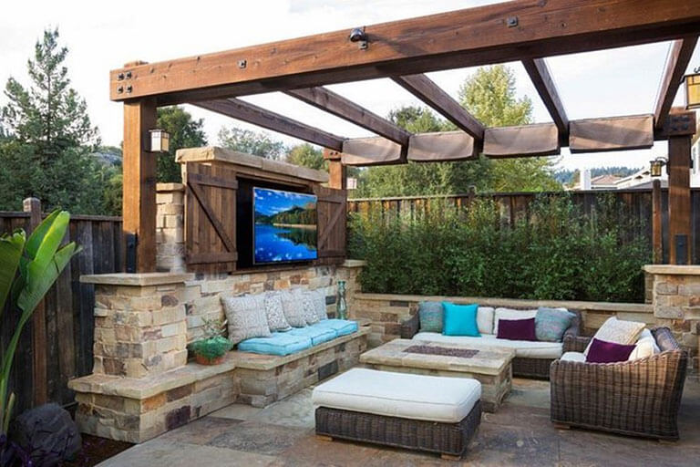 Experience Outdoor Living In A Backyard Living Room Soundworks Security Ct