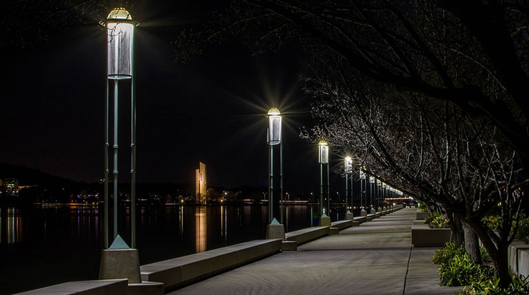 Commercial Outdoor Security Lighting SoundWorks and Security CT
