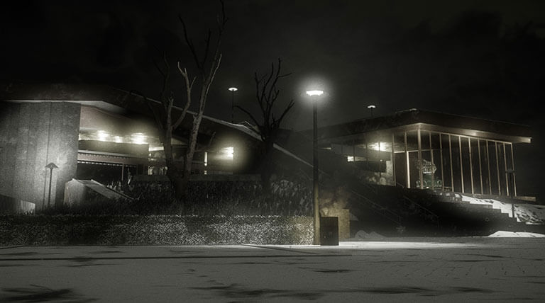 Commercial Outdoor Security Lighting SoundWorks and Security In CT